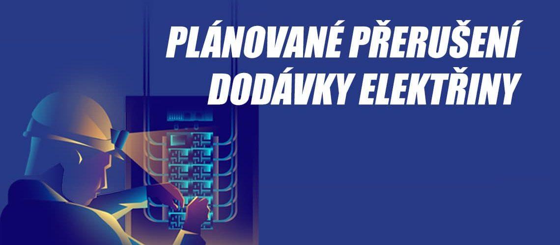 Plánované přerušení dodávky elektřiny